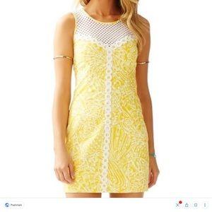 Lilly Pulitzer Mcfarlane Dress Sea Cups Yellow